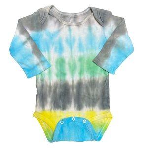 B💲4) Child of Mine Unisex Tie Dye LS Onesie 6-12m